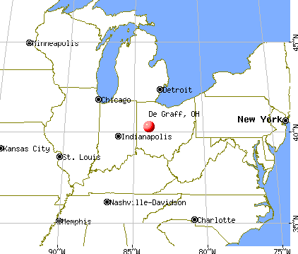 De Graff, Ohio map