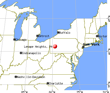 Lenape Heights, Pennsylvania map