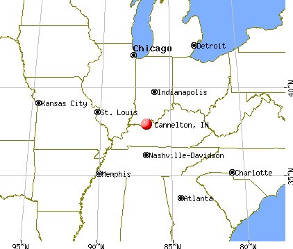 Cannelton, Indiana map