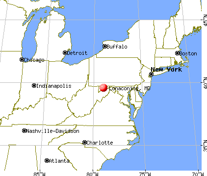 Lonaconing, Maryland map