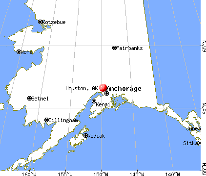 Houston, Alaska map