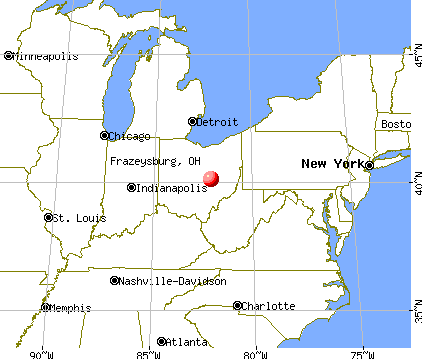 Frazeysburg, Ohio map