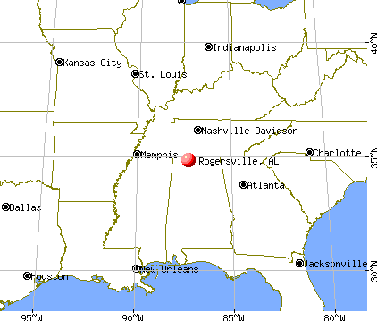 Rogersville, Alabama map