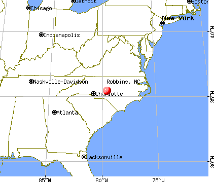 Robbins, North Carolina map