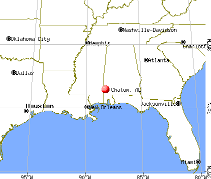 Chatom, Alabama map