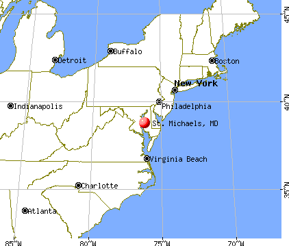 St. Michaels, Maryland map