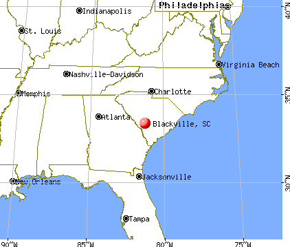 Blackville, South Carolina map