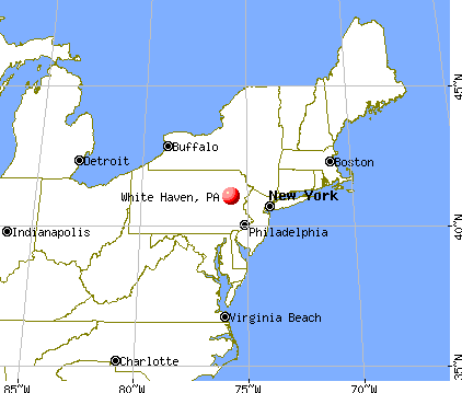 White Haven, Pennsylvania map
