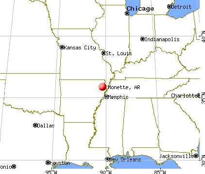 Monette, Arkansas map