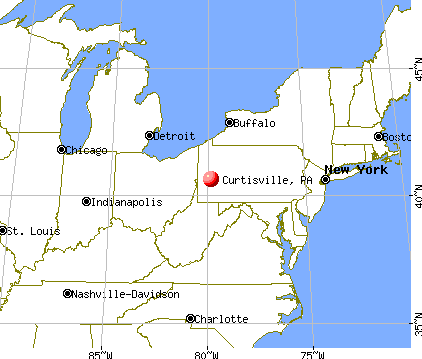 Curtisville, Pennsylvania map