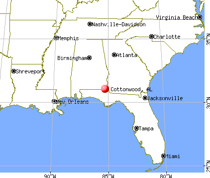 Cottonwood, Alabama map