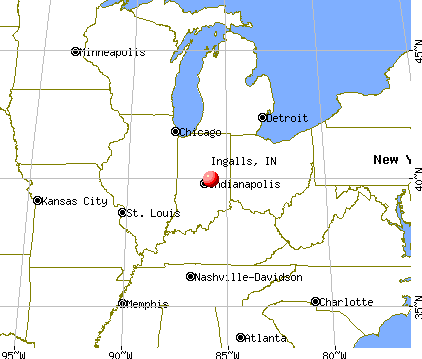 Ingalls, Indiana map