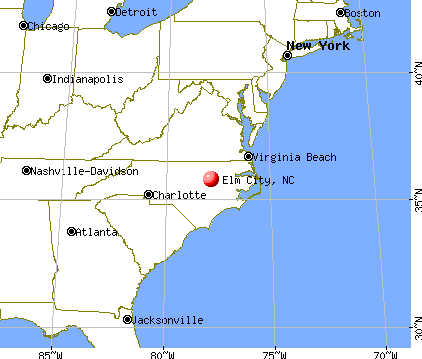 Elm City, North Carolina map