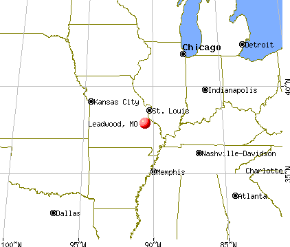 Leadwood, Missouri map