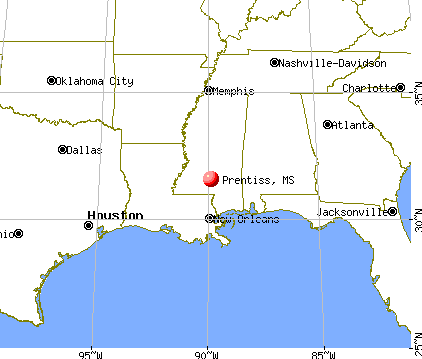 Prentiss, Mississippi map