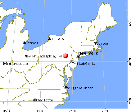 New Philadelphia, Pennsylvania map