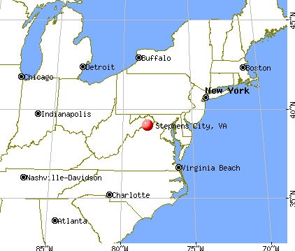 Stephens City, Virginia map