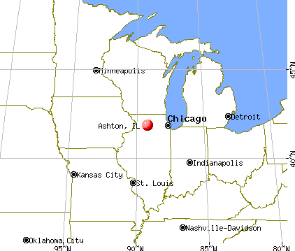 Ashton, Illinois map