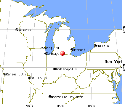 Reading, Michigan map