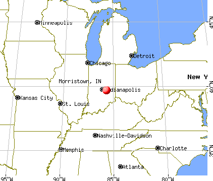 Morristown, Indiana map