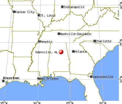 Odenville, Alabama map