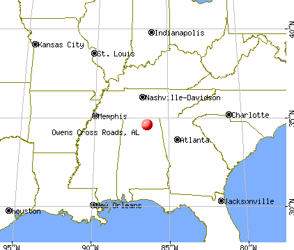 Owens Cross Roads, Alabama map