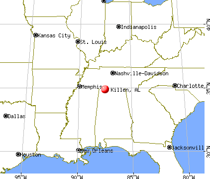 Killen, Alabama map