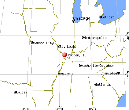 Cobden, Illinois map