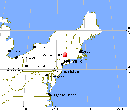 Amenia, New York map