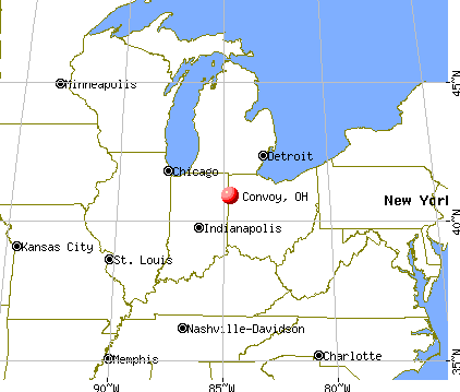 Convoy, Ohio map