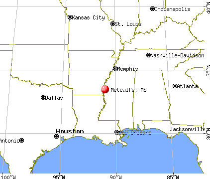 Metcalfe, Mississippi map