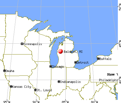 Baldwin, Michigan map