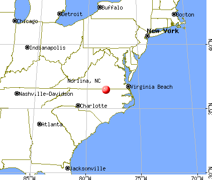 Norlina, North Carolina map
