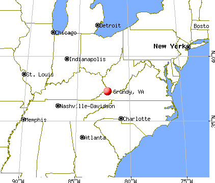 Grundy, Virginia map