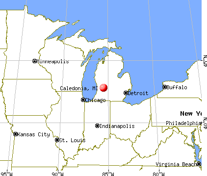 Caledonia, Michigan map