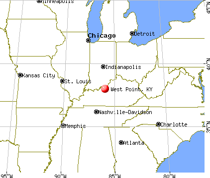 West Point, Kentucky map