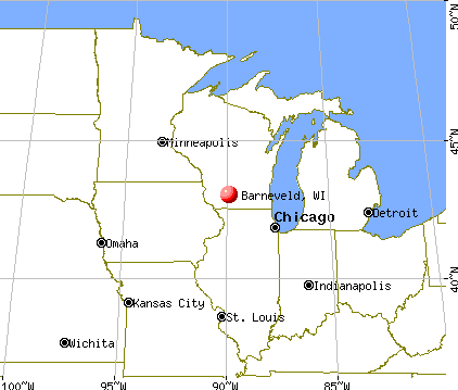 Barneveld, Wisconsin map