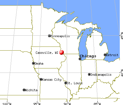 Cassville, Wisconsin map