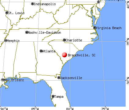 Branchville, South Carolina map