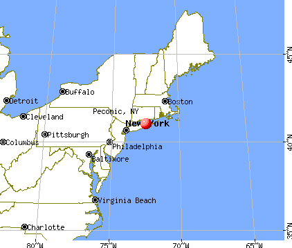 Peconic, New York map