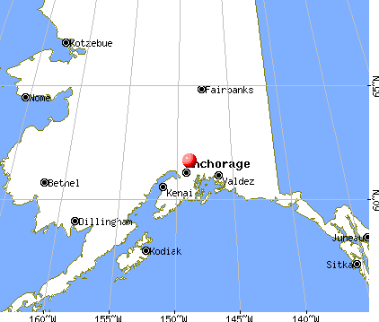 Sutton-Alpine, Alaska map