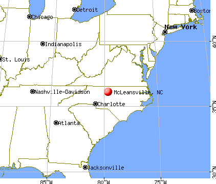 McLeansville, North Carolina map