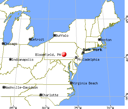Bloomfield, Pennsylvania map