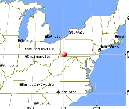 West Brownsville, Pennsylvania map