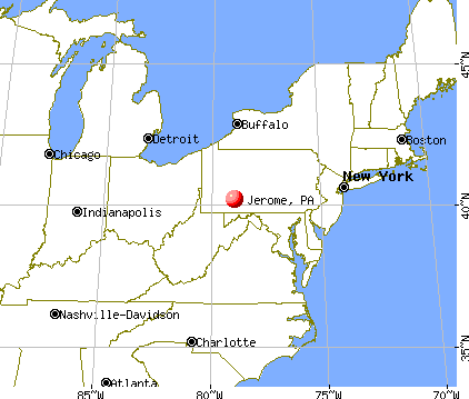 Jerome, Pennsylvania map