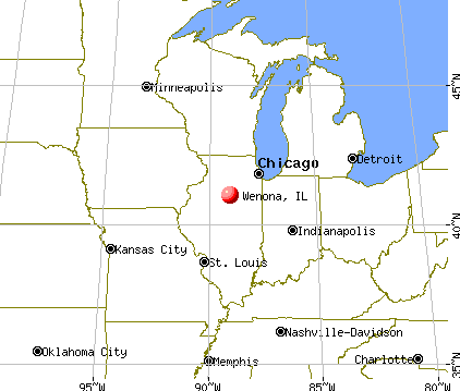 Wenona, Illinois map