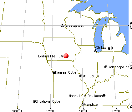 Eddyville, Iowa map