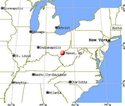 Mason, West Virginia map