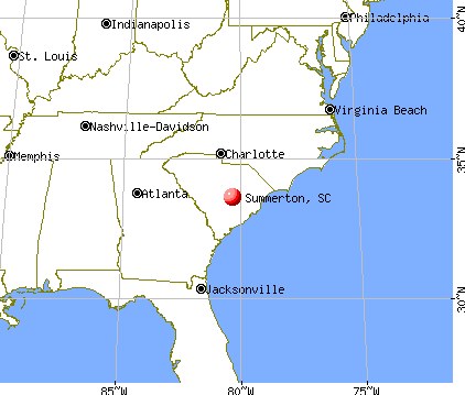 Summerton, South Carolina map