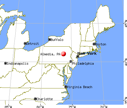 Almedia, Pennsylvania map